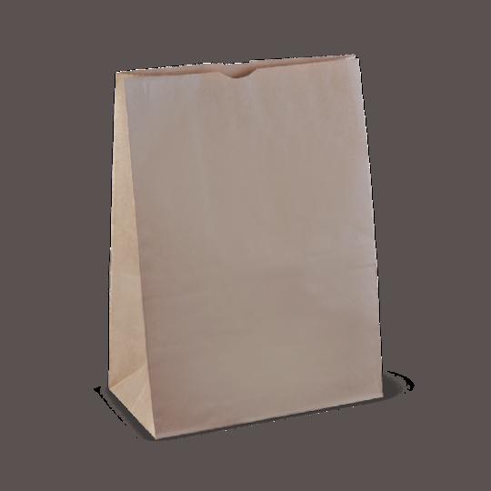 Bag Block Bottom Paper LARGE CHECKOUT (25) 430Hx300Wx175