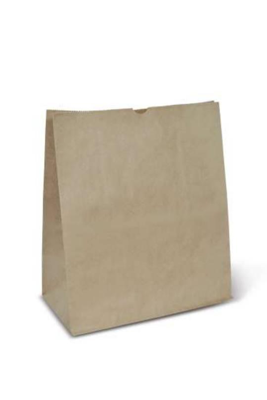 Bag Block Bottom Paper SMALL CHECKOUT 255W x 305H x 140 (50)
