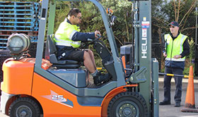 Forklift training courses Wellington Palmerston North