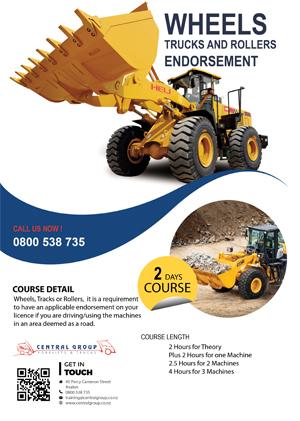 Wheel loader training course