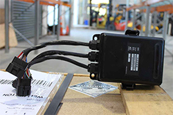 Forklift control box