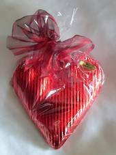 LARGE VALENTINES DARK CHOCOLATE HEART