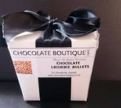 Chocolate Black Licorice Bullets Noodle Box