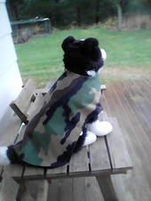 Camouflage Fleece dog coat