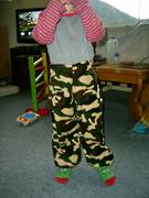 Camouflage kids trousers 2-8yrs