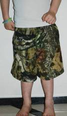 Kids camo fleece Shorts