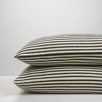 Black Ticking Stripe Pillowcases