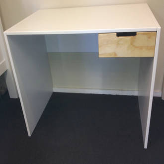 White HPL PLY Desk