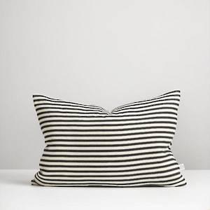 Black Ticking Stripe Cushion