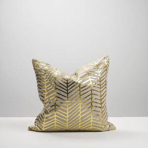 Gold Herringbone Cushion