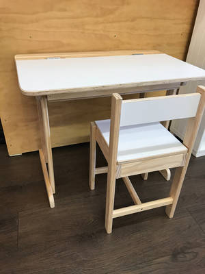 Wooden Lift-top Desk and Large Chair