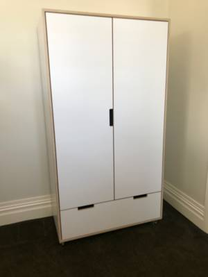 Devon HPL PLY Wardrobe With Drawer & Internal Shelves