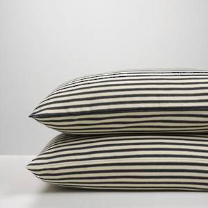 Black Ticking Stripe Pillowcases