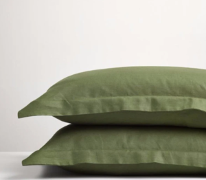 Forest Green Linen Pillowcases