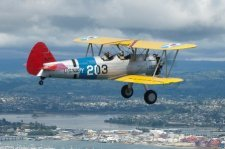 Stearman in Flight small
