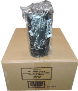BIN LINER 27L BLACK  ROLL 1000 PC - KT27210