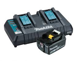 Makita - Charger DC18RD - Rapid Dual Port + One 5AH Battery