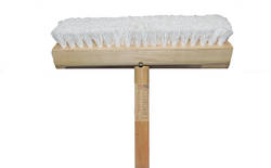 BRUSH DECK SCRUB & HANDLE H/D WOOD