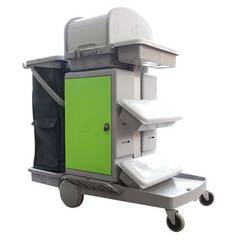 SUPA JANITOR CART CABINET TROLLEY WITH FLAT MOP SYSTEM
