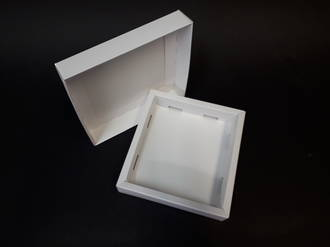 Card Base & Lid - White/Kraft