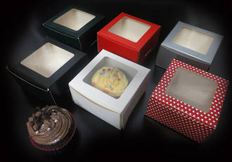 Mini cake box with window