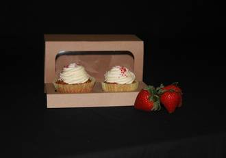 Double Cupcake Eco Box with Window