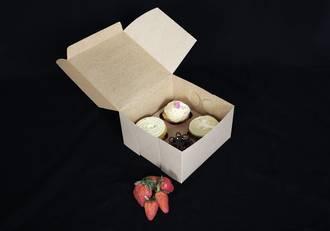 "4 - Cupcake Eco Box 60mm Standard Insert - 7 x 7 x 4"""