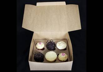 6 - Cupcake Eco Box 60mm Standard Insert - 10 x 10 x 4""