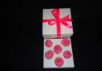 6 - Mini Cupcake White Box 40mm Mini Insert - 6 x 6 x 3""