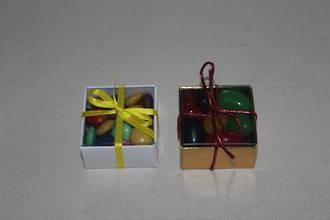 Square (Cube) White Card Box & PVC Lid