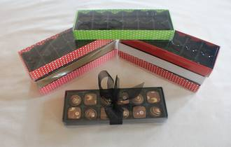 12 Piece Chocolate Box Card Base & PVC Lid + Insert