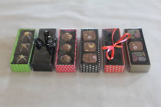 3 Piece Chocolate Box Card Base & PVC Lid + Insert