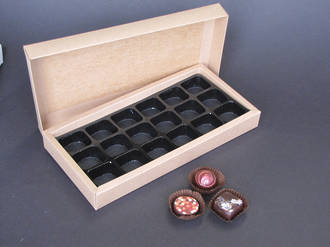 18 Piece Chocolate Box Card Base & Lid+ Insert
