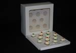 "12 - Mini Cupcake White Window Box 40mm Mini Insert - 10 x 10 x 4"""