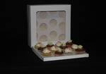12 - Cupcake White Window Box 60mm Standard Insert - 12 x 12 x 4""