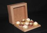 9 - Cupcake Eco Window Box 60mm Standard Insert - 10 x 10 x 4""