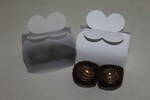 2 Piece Chocolate Butterfly Top Box - No Insert