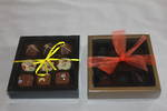 9 Piece Chocolate Box Double Walled Card Base & PVC Lid +Insert