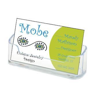 Landscape business card holder single pocket