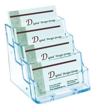 Business Card Holder-  4 pocket 1 wide