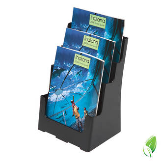 Recycled A4 Brochure Holder 3 Tier, Freestanding/Wall Mounting