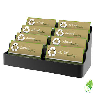 Business Card Holder - Recycled 8 pocket 2 wide