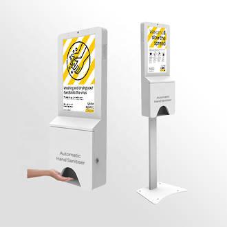 Digital screen with hand sanitiser