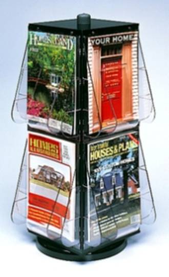 Revolving Display counter stand, 4-sided A4 x 8