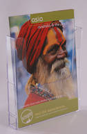 A4 Brochure Holder, Flat Back Linking, Wall Mounting