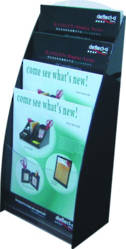 A4 Brochure Holder, Deluxe Series, 4 Tier, Freestanding/Wall Mounting