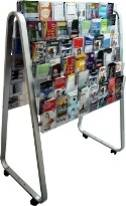 Brochure Holder, Double-sided, DLE Easel Floor Stand. 96 x DLE, 6 rows, 8 wide