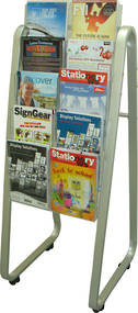 A4 Easel Floor Stand Brochure Holder. 10 x A4, 5 rows, 2 wide