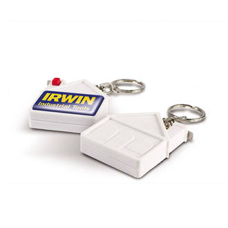 House Tape Measure Key Ring