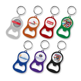 Chevron Bottle Opener Key Ring